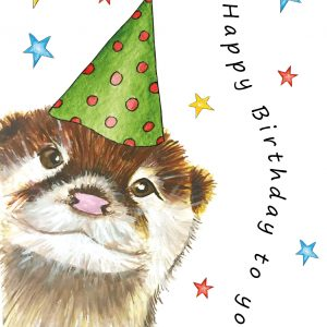 Cheeky Otter A5 Card