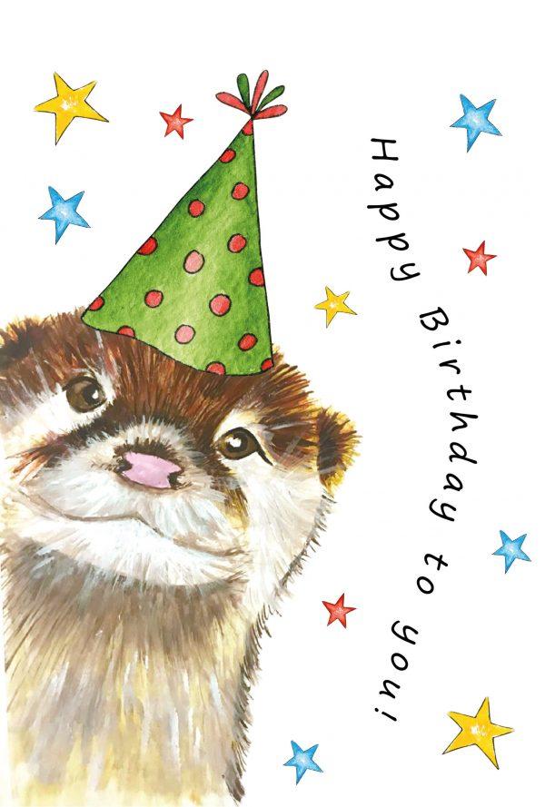 Cheeky Otter A5 Card