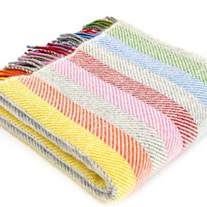 Rainbow Stripe Knee Rug