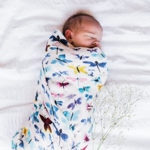 All A Flutter - Bamboo Organic GOT's Cotton Muslin Swaddle Blanket