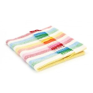 Rainbow Strip Pram Blanket