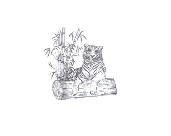A4 'Tiger' print
