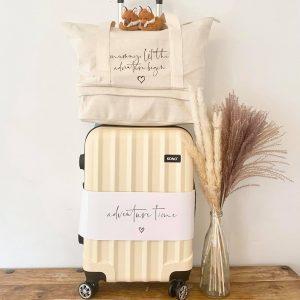 Suitcase & Mummy Let the Adventure Begin Canvas Bag