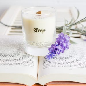 'Sleep' Soy Wax, Crackling Wood Wick Candle