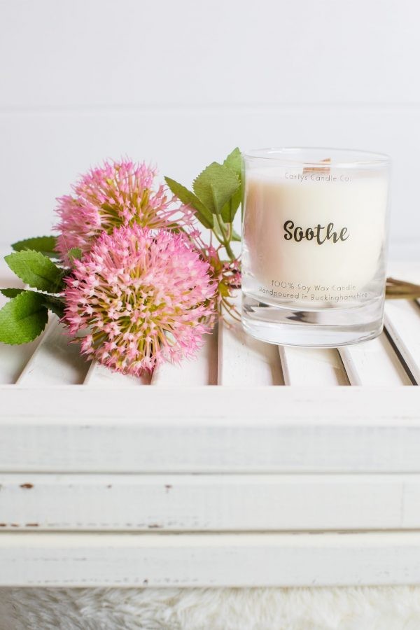 'Soothe' Crackling Wood Wick Soy Wax Candle